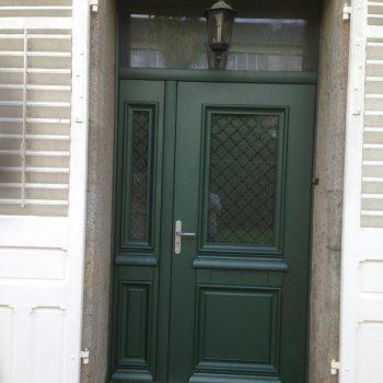 Porte d'entrée menuisée - Coudray Fermetures