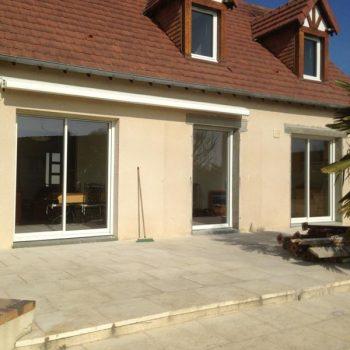 Rénovation menuiserie pavillon et pose store Ban - Coudray Fermetures
