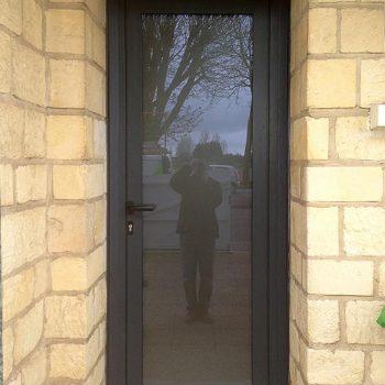 Porte d'entrée vitrée - Coudray Fermetures