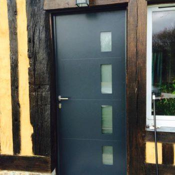 Porte d'entrée moderne - Coudray Fermetures - Coudray Fermetures