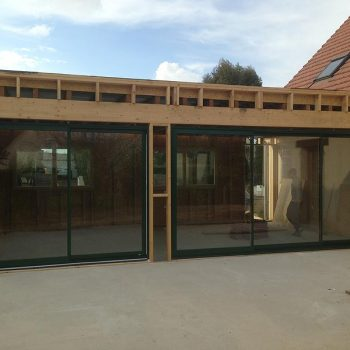 Installation menuiserie alu extension - Coudray Fermetures
